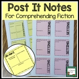 Sticky Note Templates for Reader Response- Fiction