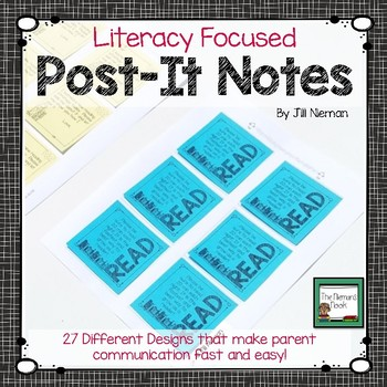 Sticky Note Templates for Reading Teachers (Editable)