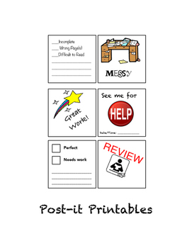 Post-It Printables