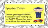 Post-It Speeding Tickets!