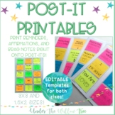 Post-It / Sticky Notes Printables -  3x3 and 1.5x2 Sizes I