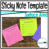 Post-It/Sticky Note Template- Surface Area