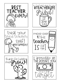Post It Template for Teacher Gifts and Appreciation