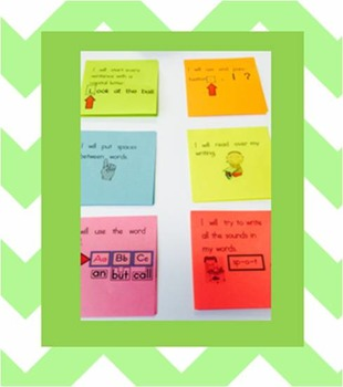 Post-It Writing Messages for Kindergarten- editable