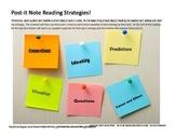 Post-It note reading strategies