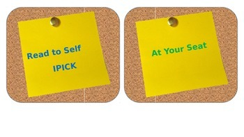 Post-It themed Reading Rotations - Editable PowerPoint