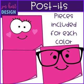 Post-Its Clip Art- School Supplies {jen hart Clip Art}