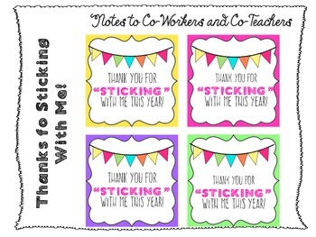 Post It's and Sharpies (Gifts for Co-teachers)