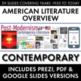 Post-Modernism, Contemporary American Literature Movement, from WW2 to Today