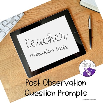 Post Observation Question Prompts