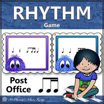 1 Eighth/2 Sixteenth Notes Music Rhythm Game {Post Office}
