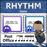 Music Rhythm Game 1 Eighth/2 Sixteenth Notes with Sixteenth Notes {Post Office}