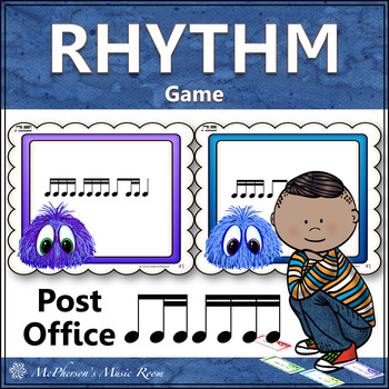 Post Office Rhythm Game 1 Eighth/2 Sixteenth Notes with Si