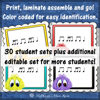 2 Sixteenths/1 Eighth Note Music Rhythm Game {Post Office}