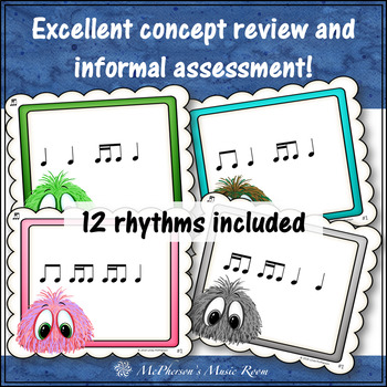 2 Sixteenths/1 Eighth Note Music Rhythm Game {Post Office}