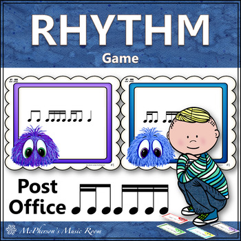 Post Office Rhythm Game 2 Sixteenths/1 Eighth Note with Sixteenth Notes