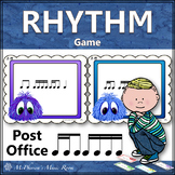 Music Rhythm Game 2 Sixteenths/1 Eighth Note with Sixteenth Notes {Post Office}