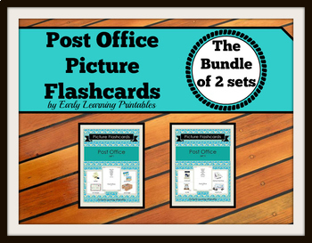 Post Office BUNDLE (set I, II) Picture Flashcards