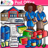 Post Office Clip Art {Postal Service Community Helpers for Worksheets}