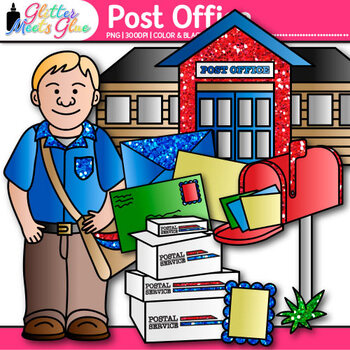 Post Office Clip Art Postal Service Community Helpers