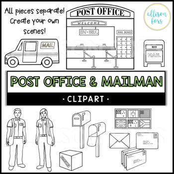 Post Office & Mailman Clip Art