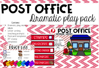 Post Office Dramatic Play Pack