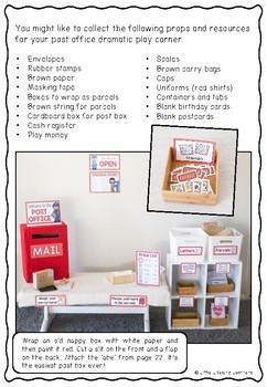 Post Office Dramatic Play Printables - Prep and Foundation