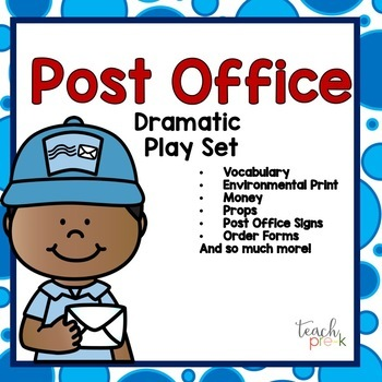 Post Office Dramatic Play:  Signs, Props, & MORE!