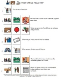 Post Office Field Trip Visual Directions and Comprehension Worksheet