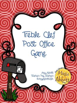 Post Office Game: Treble Clef Version