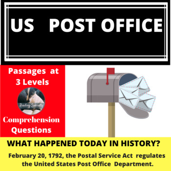 Post Office History Differentiated Reading Passage Feb 20