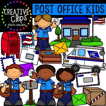 Post Office Kids {Creative Clips Digital Clipart}