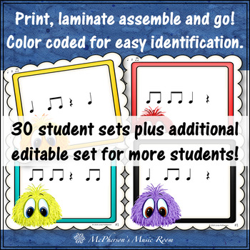 Post Office Rhythm Game Quarter Note, Quarter Rest and Eighth Notes