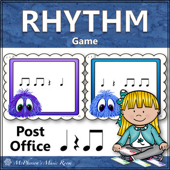 Quarter Note, Quarter Rest and Eighth Notes Music Rhythm Game {Post Office}