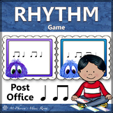 Music Rhythm Game Quarter Note and Eighth Notes {Post Office}