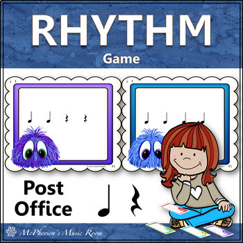 Post Office Rhythm Game Quarter Note and Quarter Rest