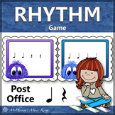 Quarter Note and Quarter Rest Music Rhythm Game {Post Office}