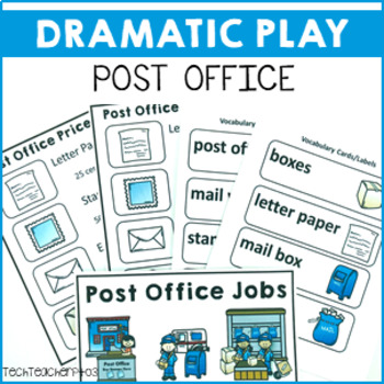 Post Office Dramatic Role Play Pack signs, posters and activities