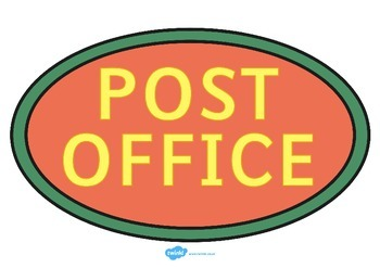 Post Office Roleplay Sign