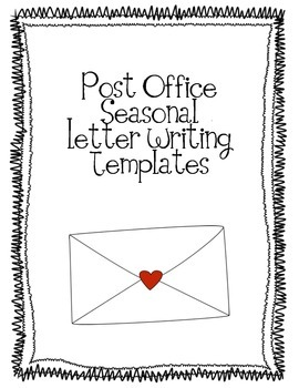 Post Office Seasonal Letter Writing Templates