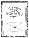 Post Office Seasonal Letter Writing Templates