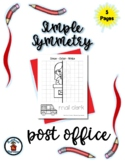 Post Office - Simple Symmetry - Draw Color Trace - 5 pages