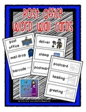 Post Office Theme Word Wall Cards