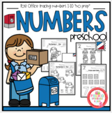 """Post Office Tracing Numbers 1-10 """"No Prep"""""""