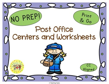Post Office Worksheets Activities Games Printables and More