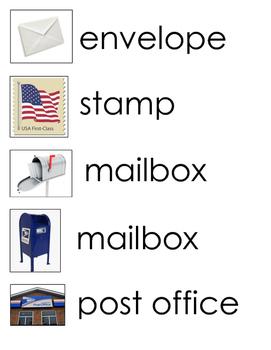 Post Office Word Wall for PreK, Kindergarten
