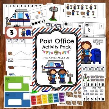 Post Office Preschool and Tots Activities