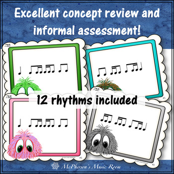 2 Sixteenths/1 Eighth & 1 Eighth/2 Sixteenths Music Rhythm Game {Post Office}