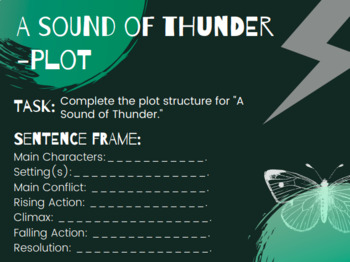"""""""A Sound of Thunder"""" Post Questions/Task Cards"""