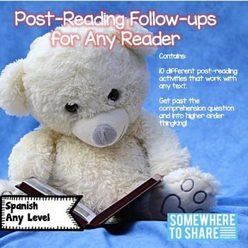 Post Reading Follow-ups Any Novel